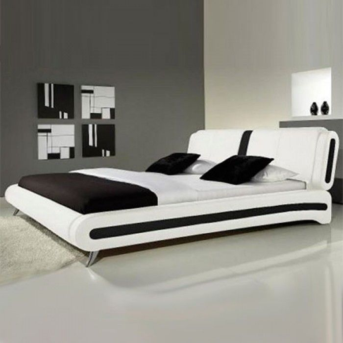 Best Florence Modern Leather Bed White Leather Bed Leather 400 x 300