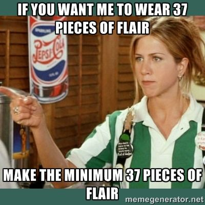 Image result for meme from office space about flair