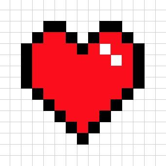 Corazon Friki Dibujos En Cuadricula Dibujos En Pixeles Patrones