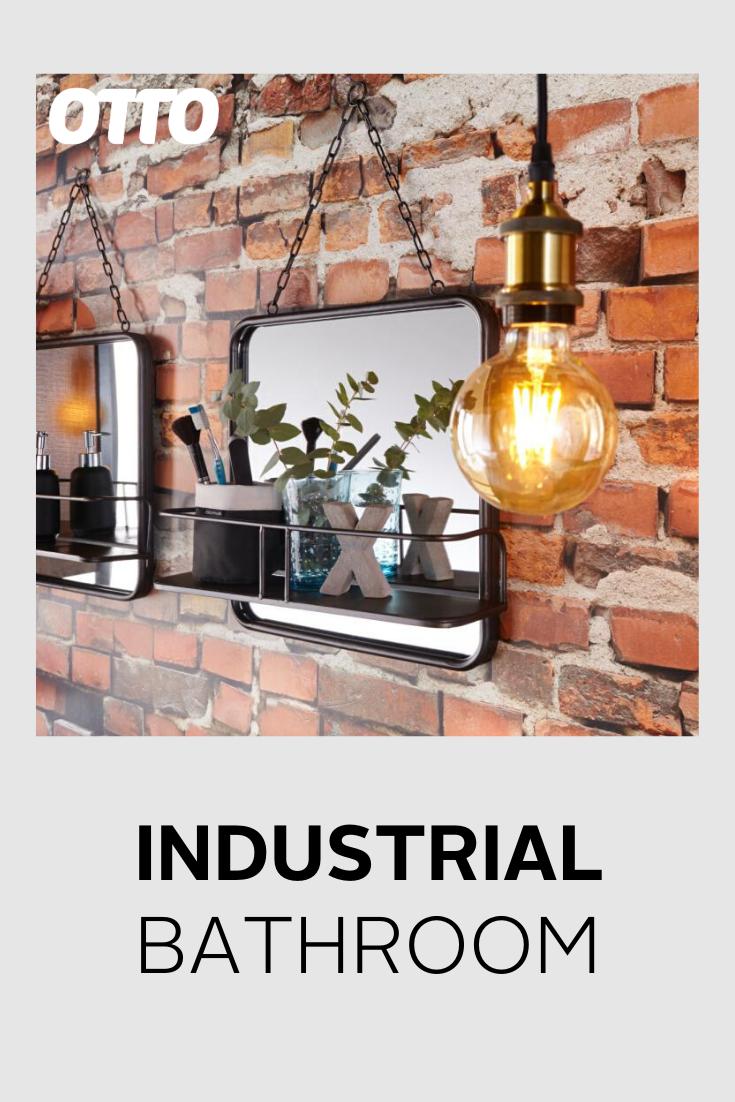 Der Neue Trend Im Badezimmer Heisst Industrial Style Mit Groben Materialien Wird Hier Ein Kontrast Zur Cleanen Badezimmeratmosphare Ges In 2020 Industrie Badezimmer Schone Lampen Und Lichter