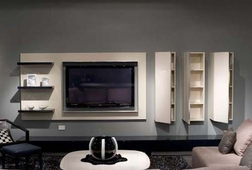 TV Wall   Modern TV Cabinets Designs Pictures