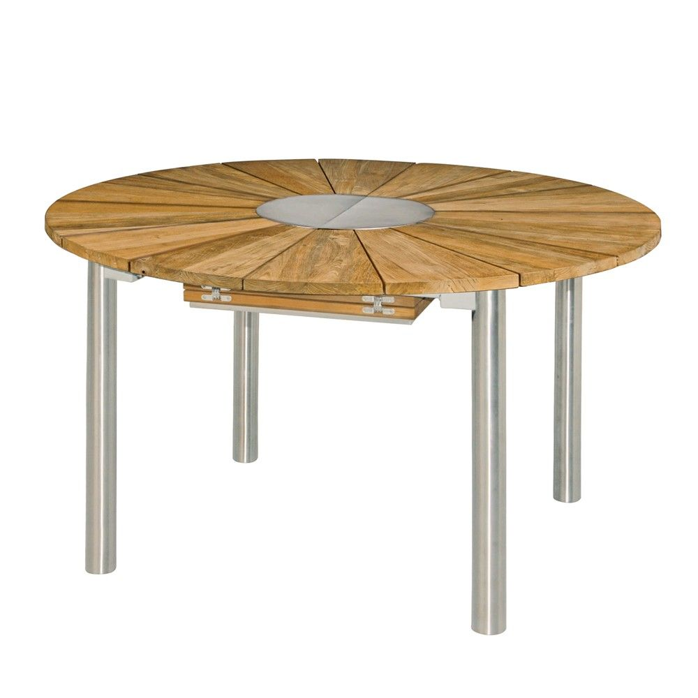 Table CATAX en teck avec rallonge D135cm | jardin meubles