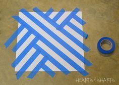 Masking Tape Art Patterns Painters Tape Art Tape Painting Diy