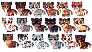 Photo of Cat Adopts 14 [300pts/3$ – OPEN} by Chintzy-Adopts on Devian…