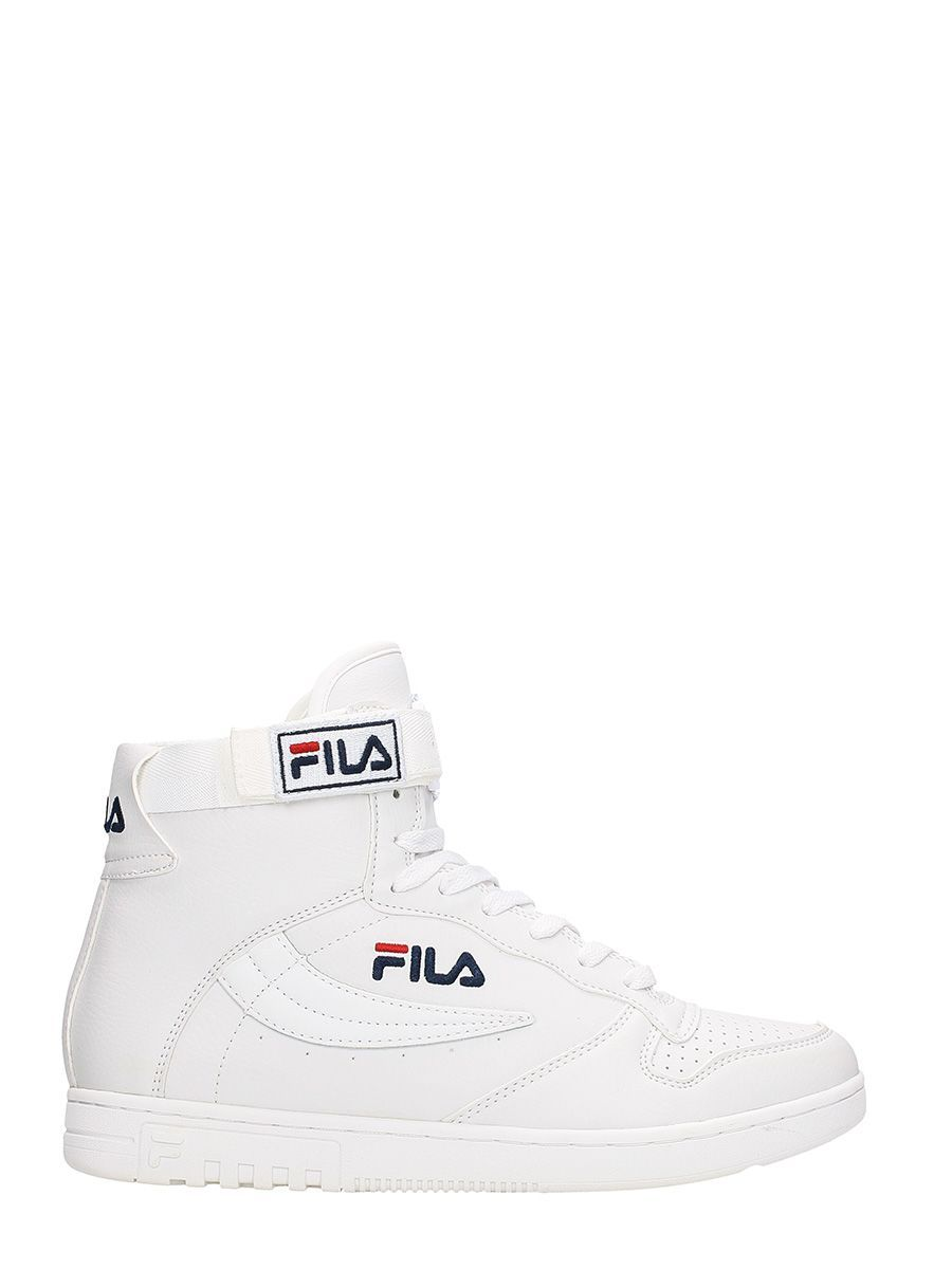 9360d6c98c7a FILA FX 100 WHITE LEATHER MID SNEAKERS.  fila  shoes
