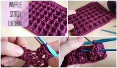 Crochet Waffle Stitch Free Pattern Tutorial-Video