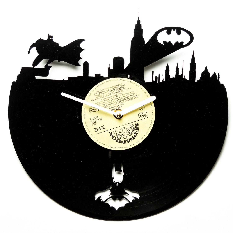Horloge vinyle moderne horloge murale par secondlifeforvinyl | Stuff ...