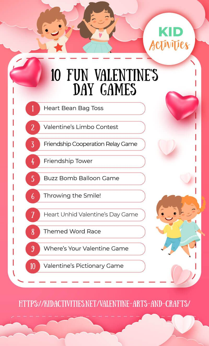 17 Fun Valentine S Day Games For Kids In The Classroom Kid Activities Valentine Fun Games For Kids Classroom Valentine S Day Games