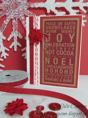 Christmas Cards using #CTMH Poster Tidings stamp set