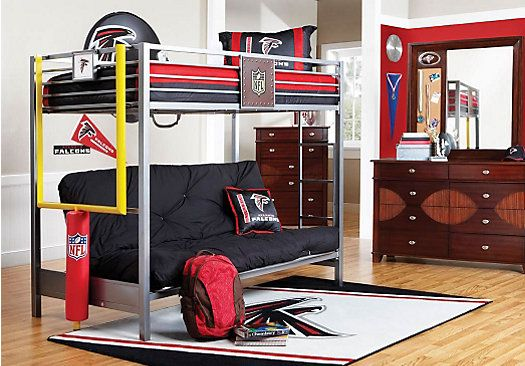 For A Nfl Redzone 6 Pc Twin Loft Bedroom At Rooms To Go Kids