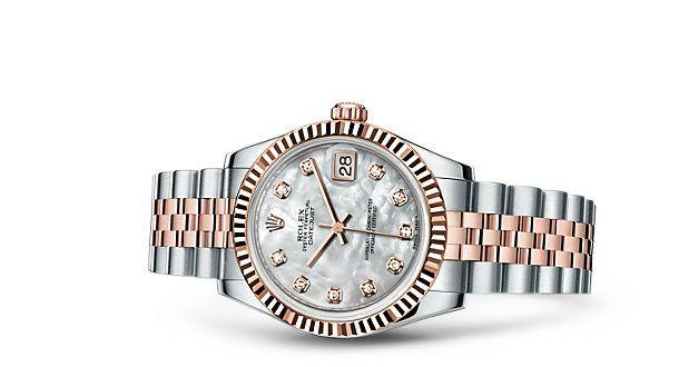 Relógio Rolex Datejust 31: Rolesor Everose - combinação de aço 904L e ouro Everose 18 quilates – 178271
