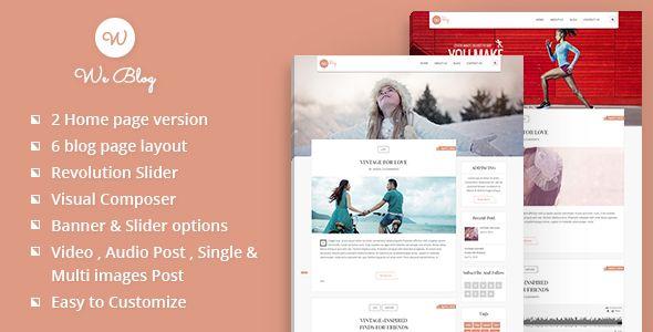 We Blog WordPress Theme | Pinterest