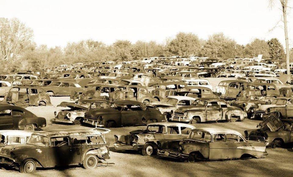 Salvage yard. | Salvage yards | Pinterest | Yards, Abandoned cars ...