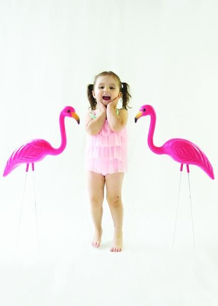 Frou Frou & Co. Cotton Candy Pink Ruffle Swimsuit