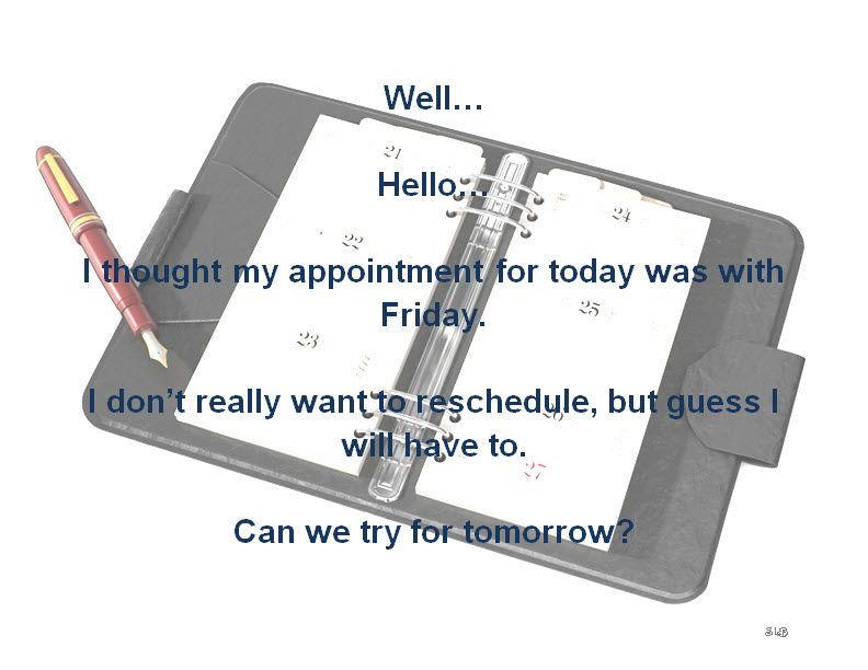 Weekday Appointment