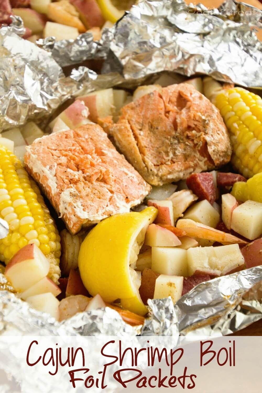 Cajun Shrimp Boil Foil Packets | Recipe | Shrimp boil foil Summer sausage and Cajun shrimp & Cajun Shrimp Boil Foil Packets | Recipe | Shrimp boil foil Summer ...
