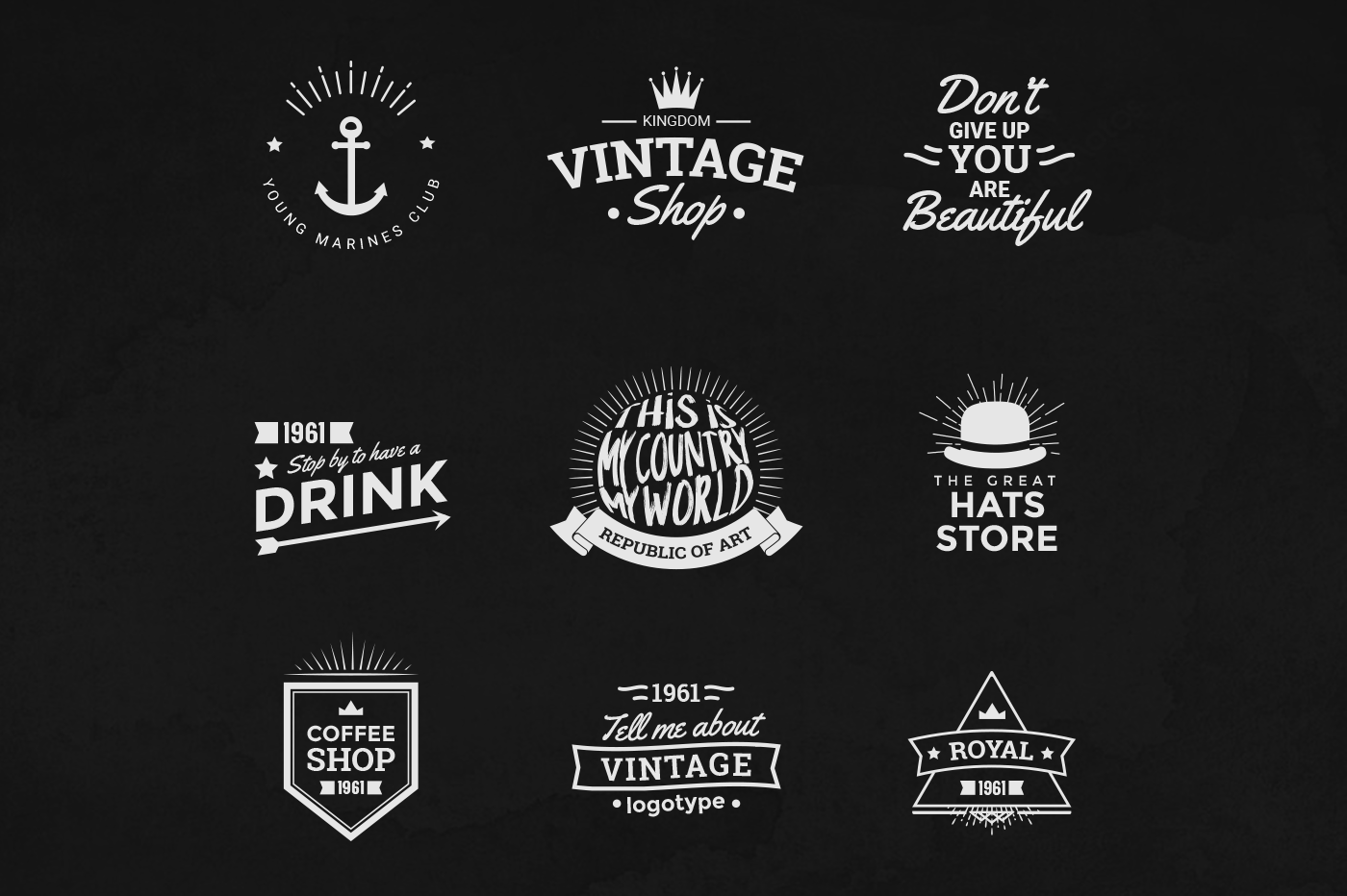 Check Out This Behance Project Vintage Logos Template Bundle V1 Download Https Www Behance Net Vintage Logo Logo Templates Free Lettering Worksheets