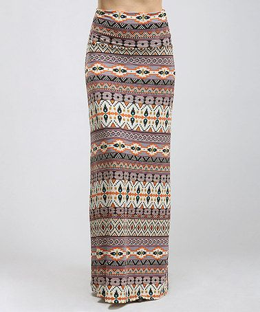 Another great find on #zulily! Blush Tribal Stripe Maxi Skirt - Women #zulilyfinds