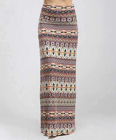 Another great find on #zulily! Blush Tribal Stripe Maxi Skirt - Women #zulilyfinds