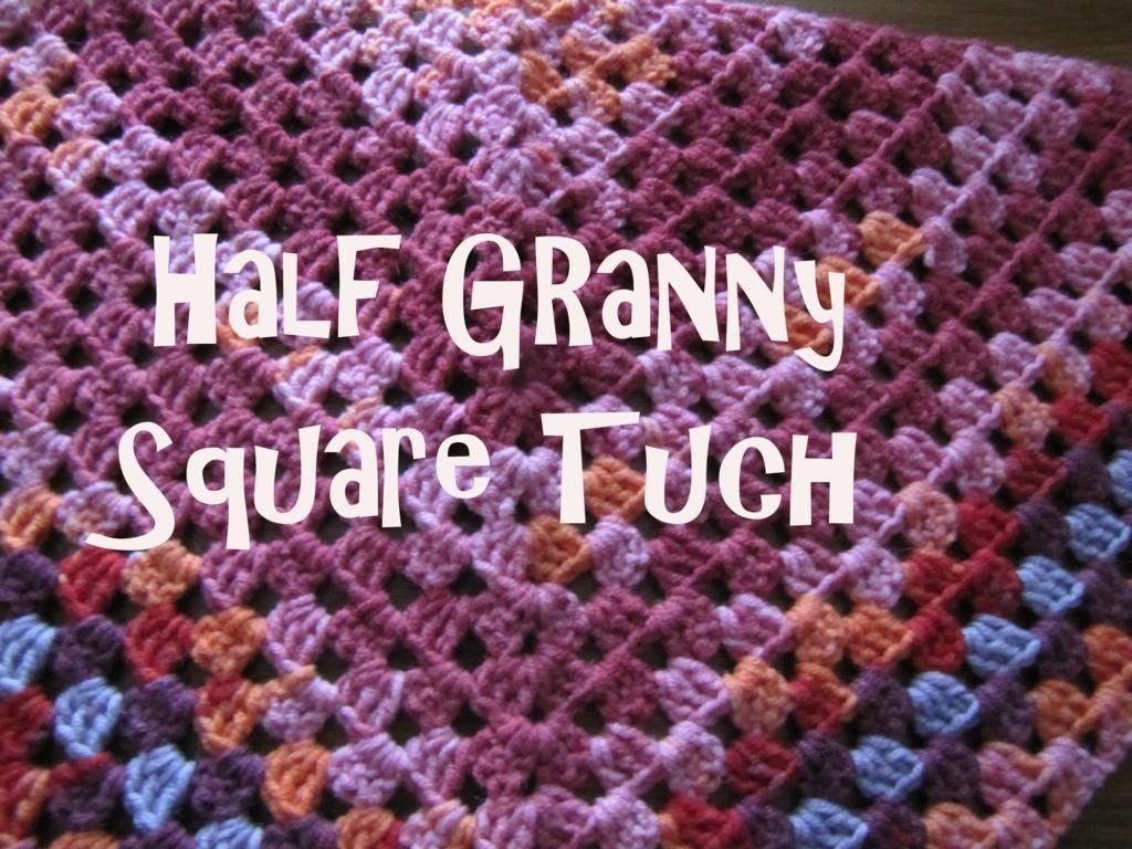 Half Granny Square Tuch Dreieckstuch Häkeln Stricken Und Häkeln