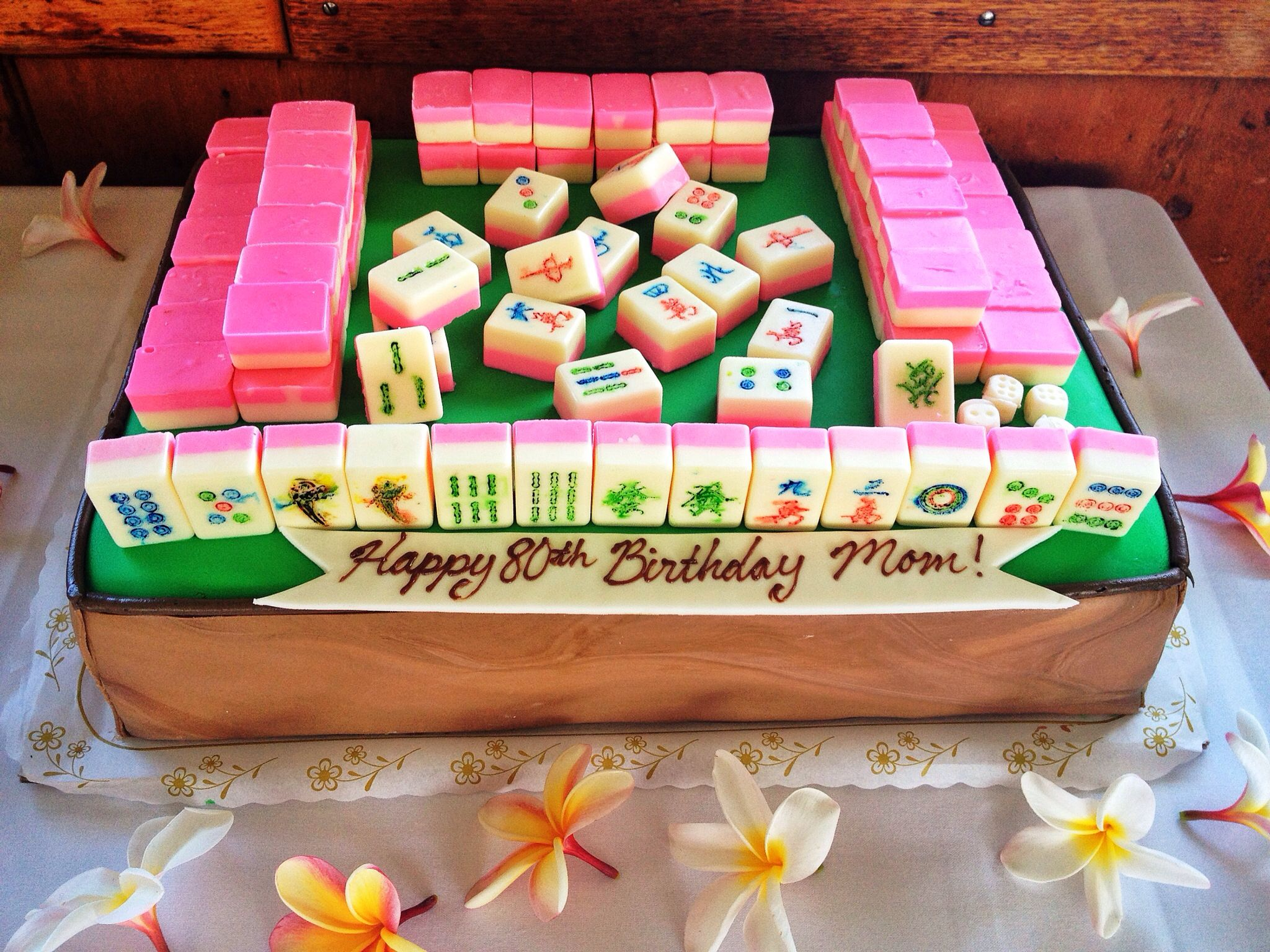 The Surprise Mahjong Cake My Friend And I Made For My Moms Big