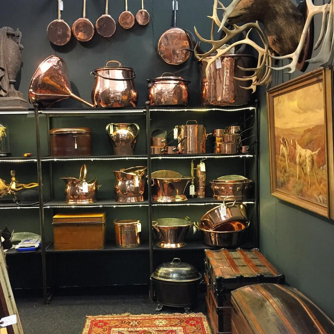 Setting Up At The Decorativefair Copper Countryhouse Antiques