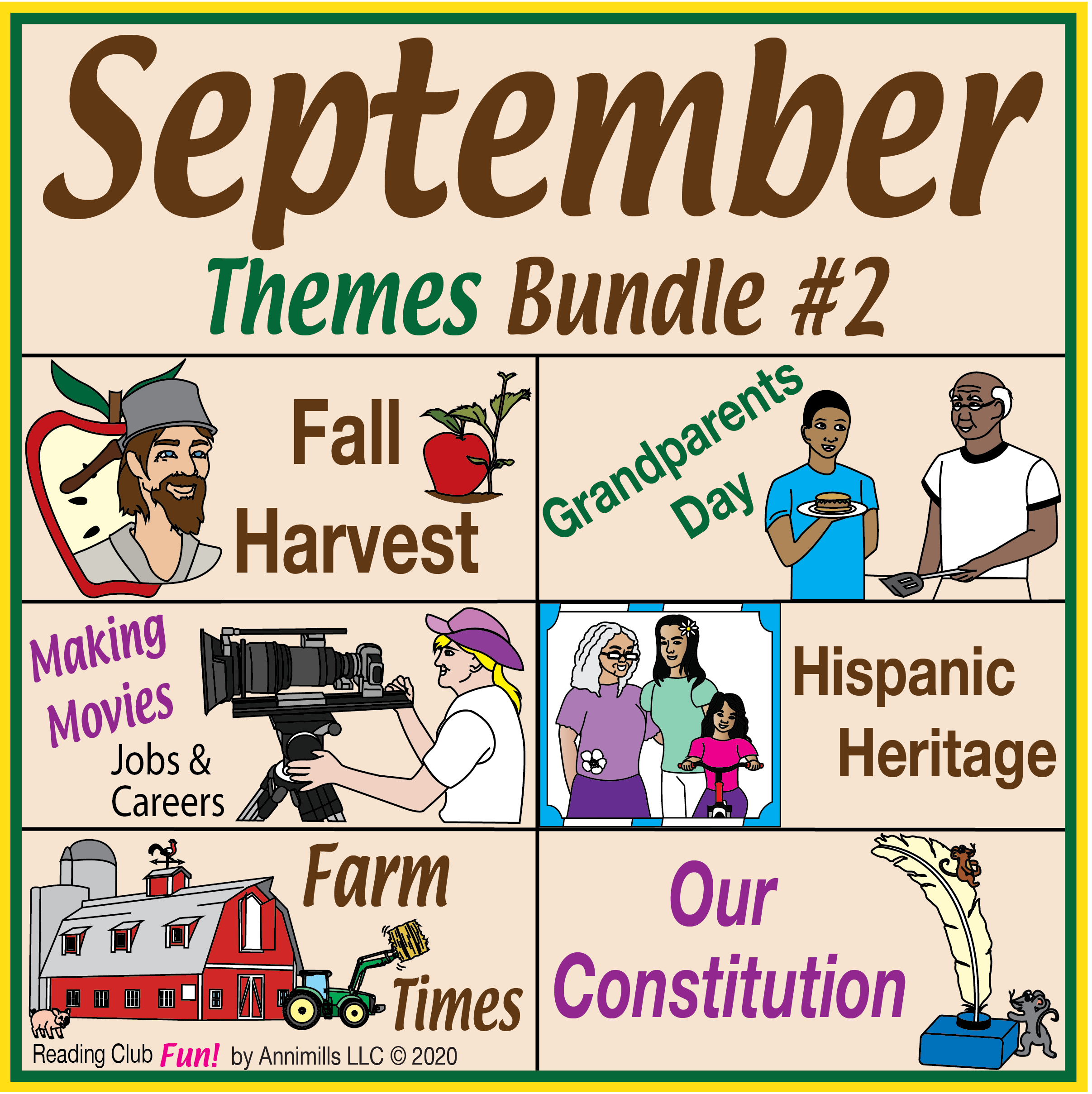 September Themes Puzzle Bundle 2 In