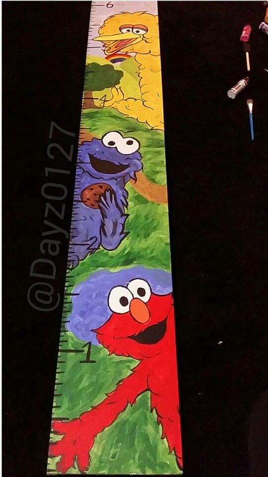 Sesame Street Growth Chart Elmo Cookie Monster Big Bird