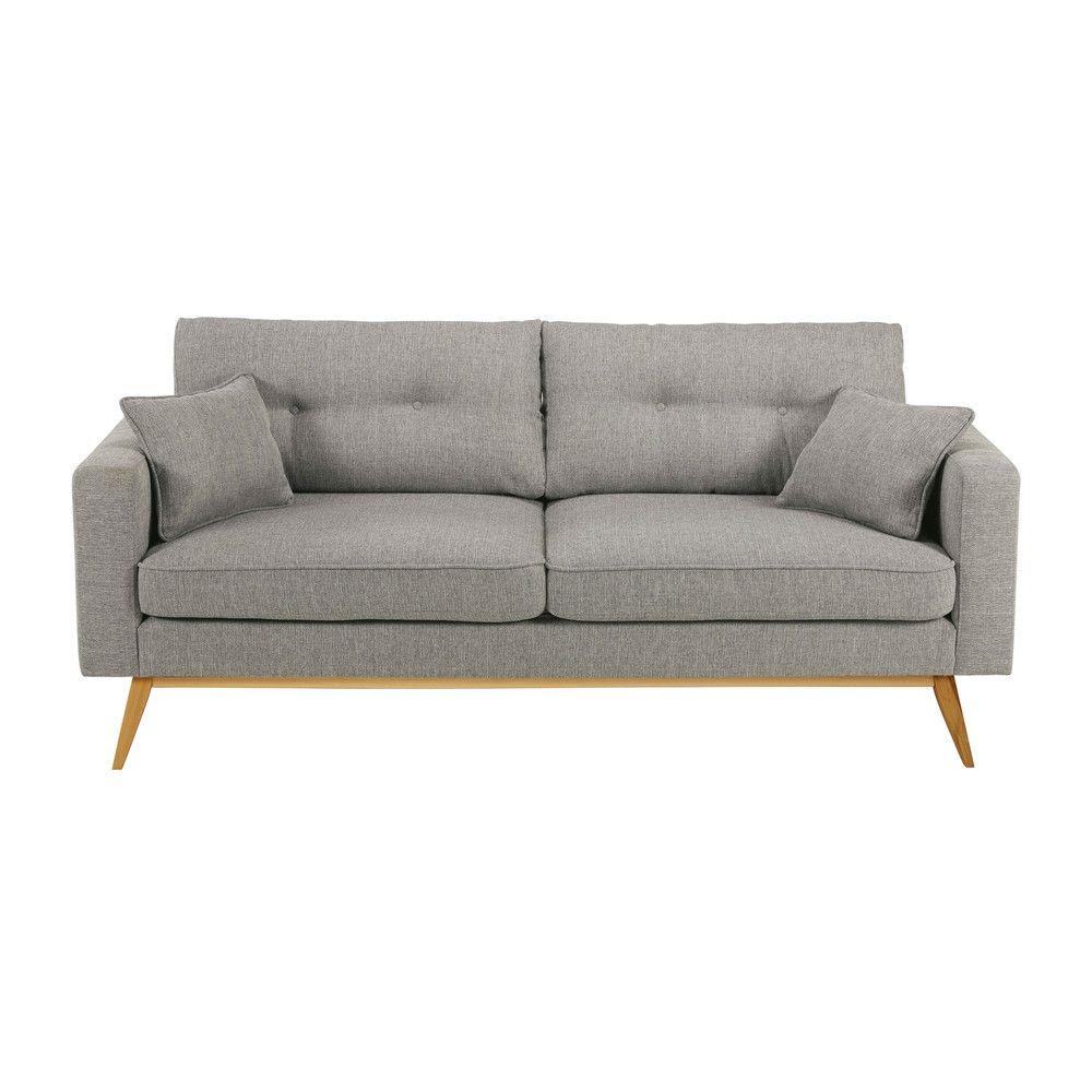 Skandinavisches 3 Sitzer Sofa Hellgrau With Images Grey