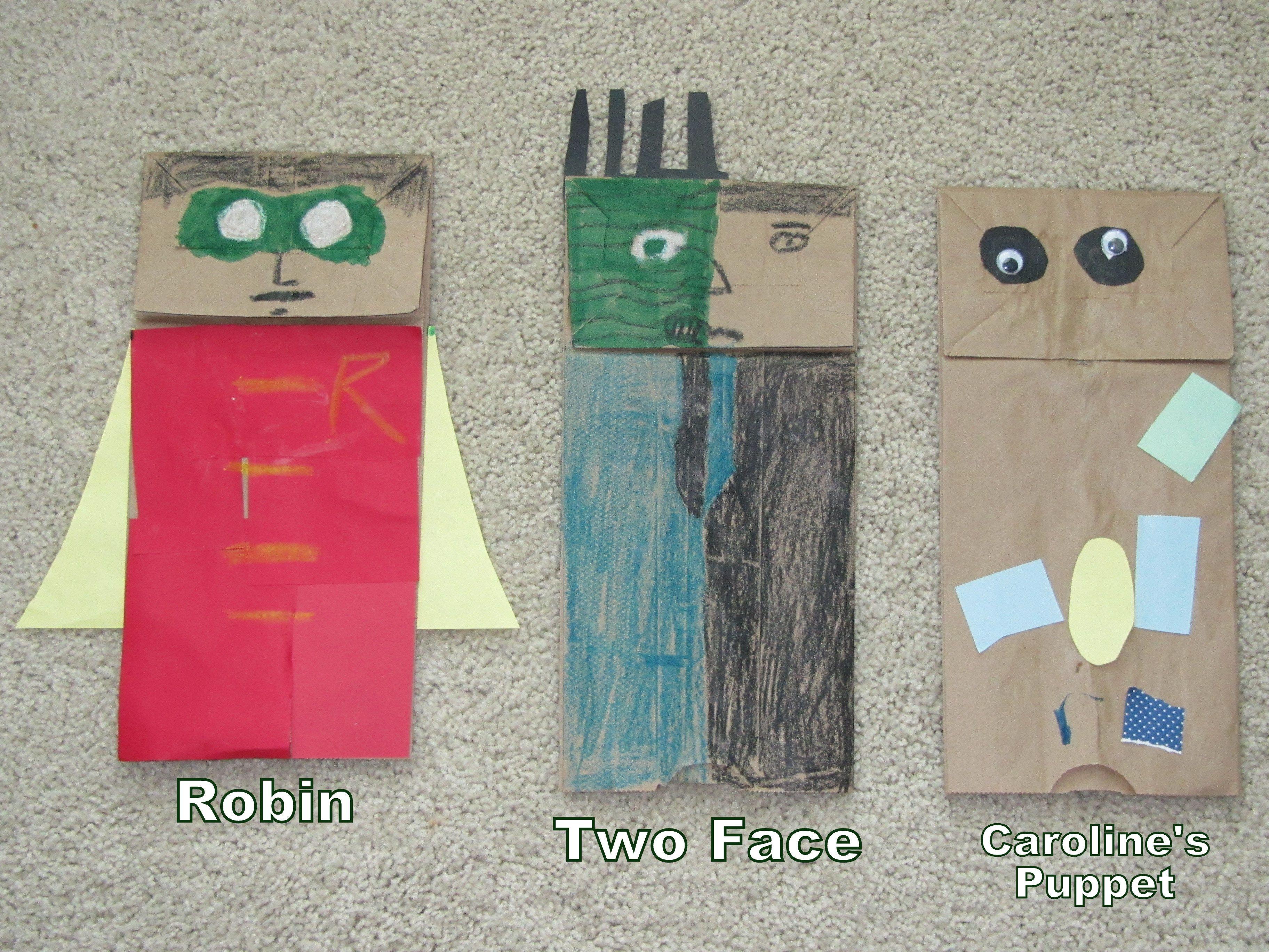 Paper bag activity - Paperbag Puppets Activity Idea