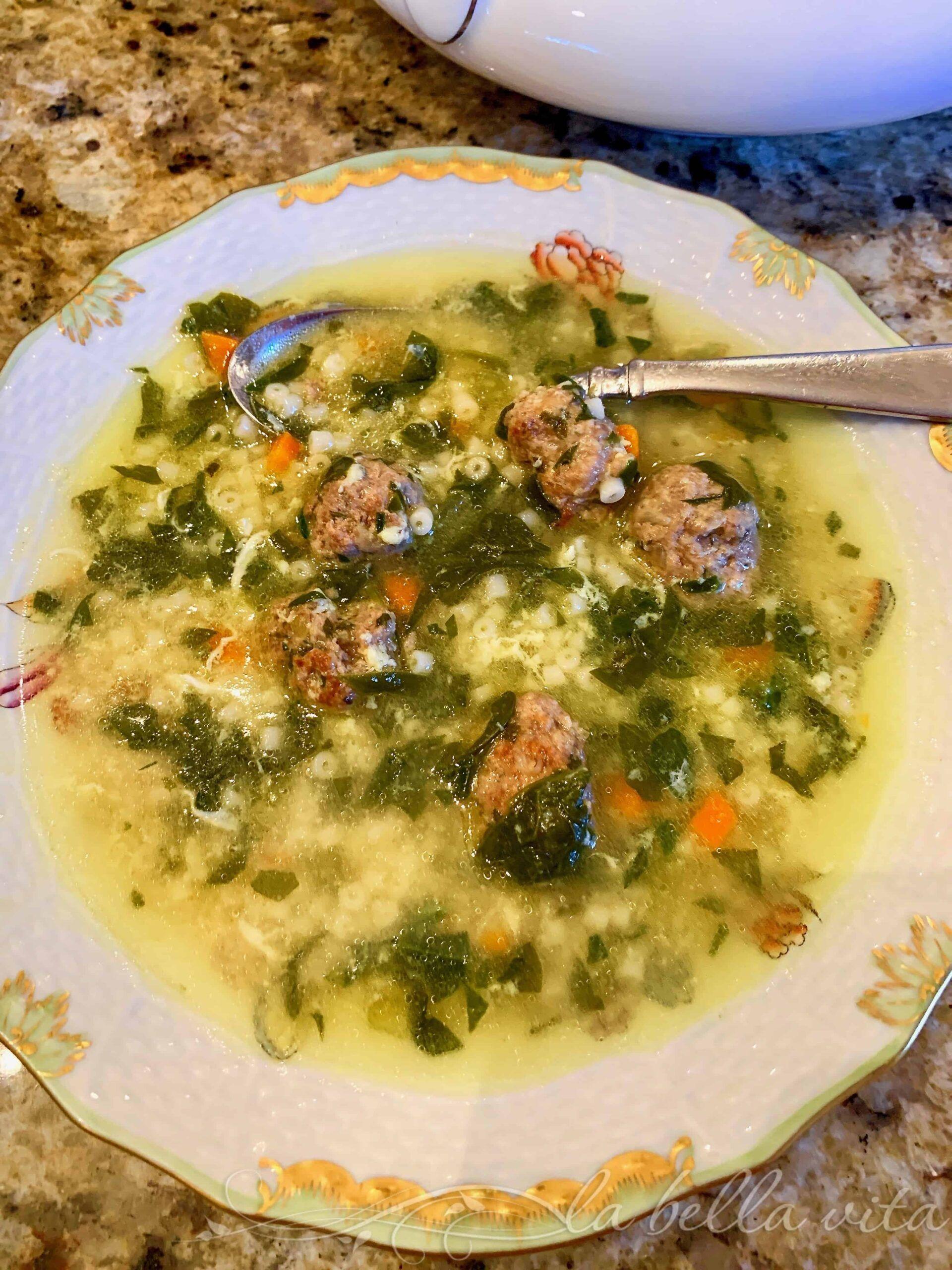 Classic italian wedding soup in instant pot recipe