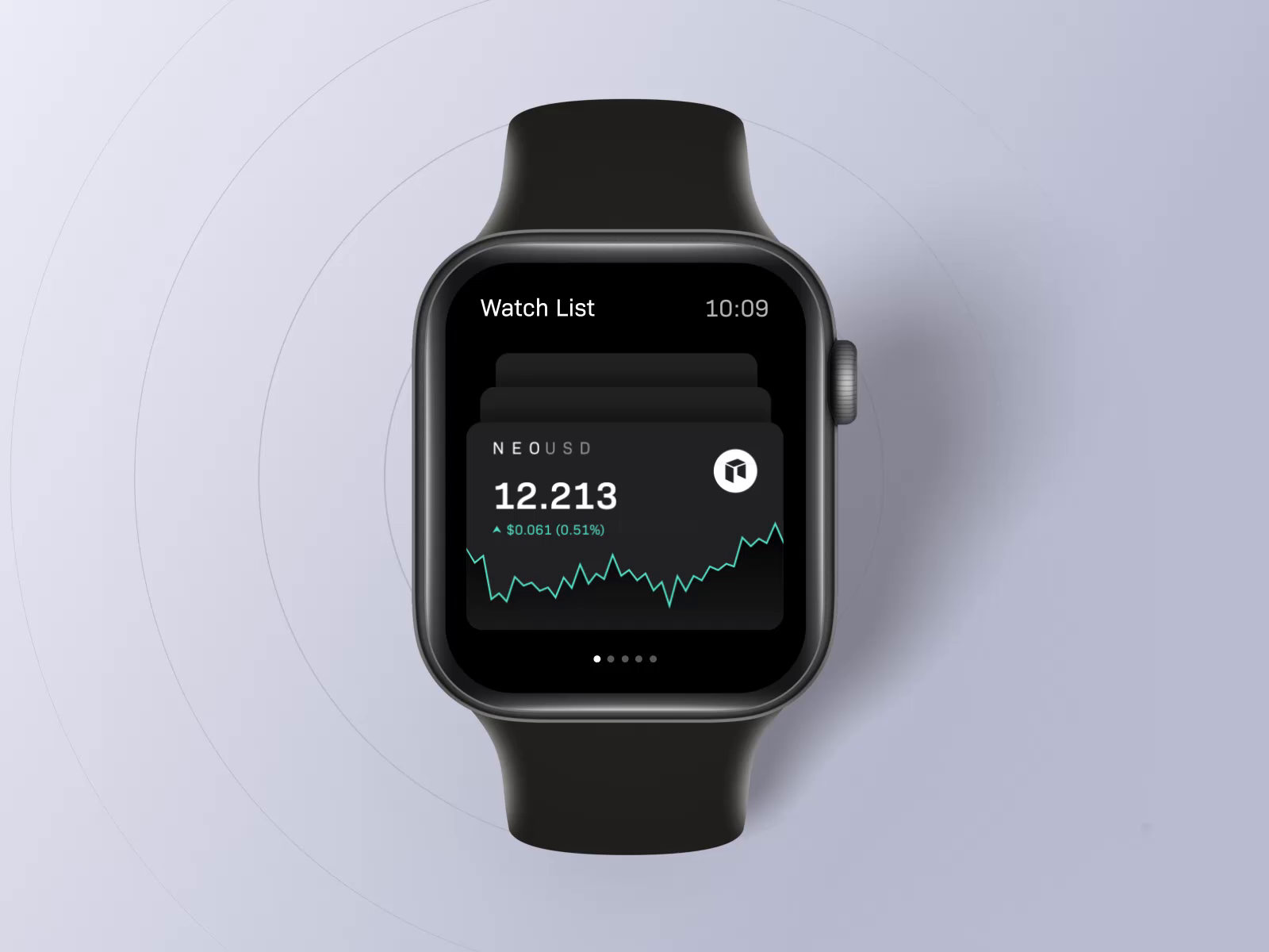 Trading app concept for apple watch (motion part) by Robin