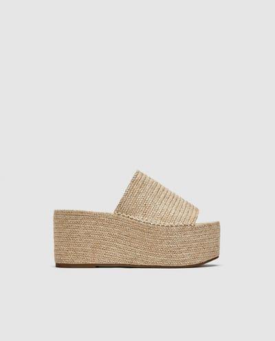 Plataforma Yute Sandalia De Zapatos 2 Imagen Zara HOwqtxWAf6