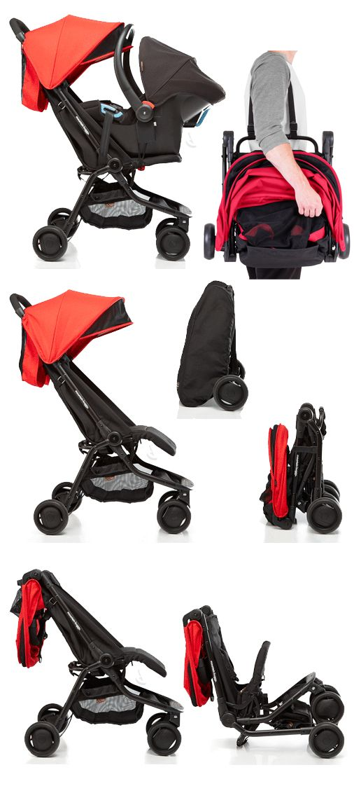 The Lightweight Nano Stroller By Mountain Buggy Folds Up Into A Compact Carry On Shoulder Bag Genius Pram For Travelling Product Design 유모차