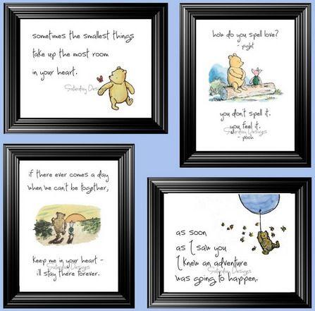 Christopher Robin Baby Print Signed A.A Milne Pooh Nursery Decor Winnie The Pooh Print Nursery Wall Art Tigger Found How Easy It Was