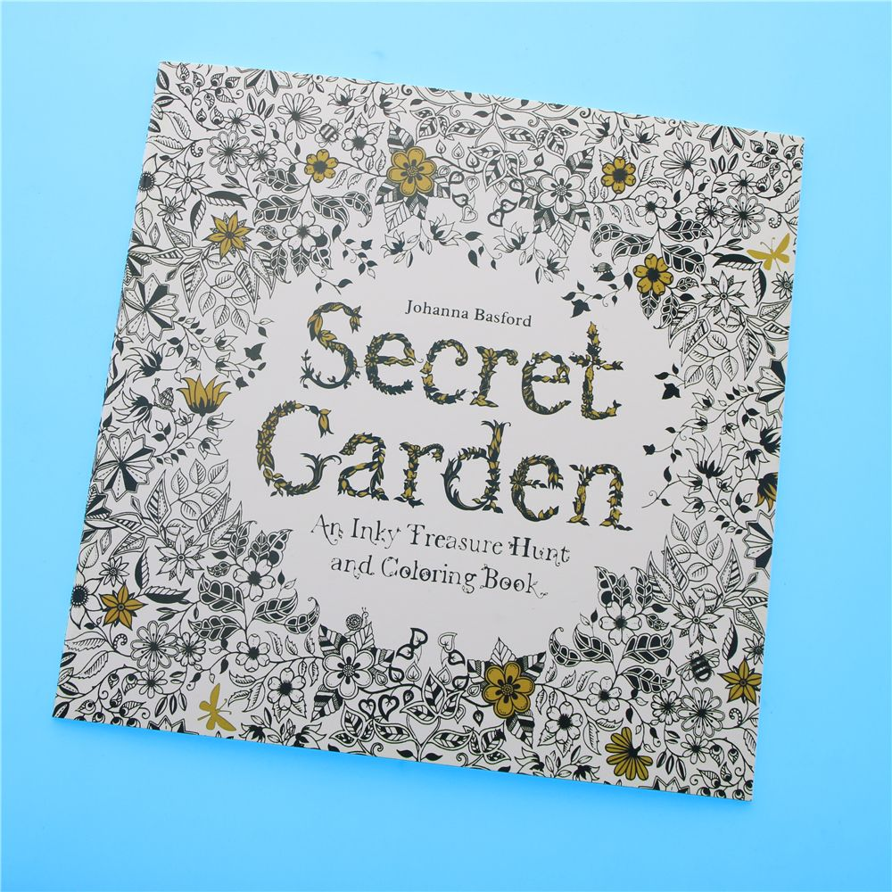 Cheap Books For Children Buy Quality Coloring Book Directly From China Painting Drawing Suppliers 24 Pages Secret Garden English Edition