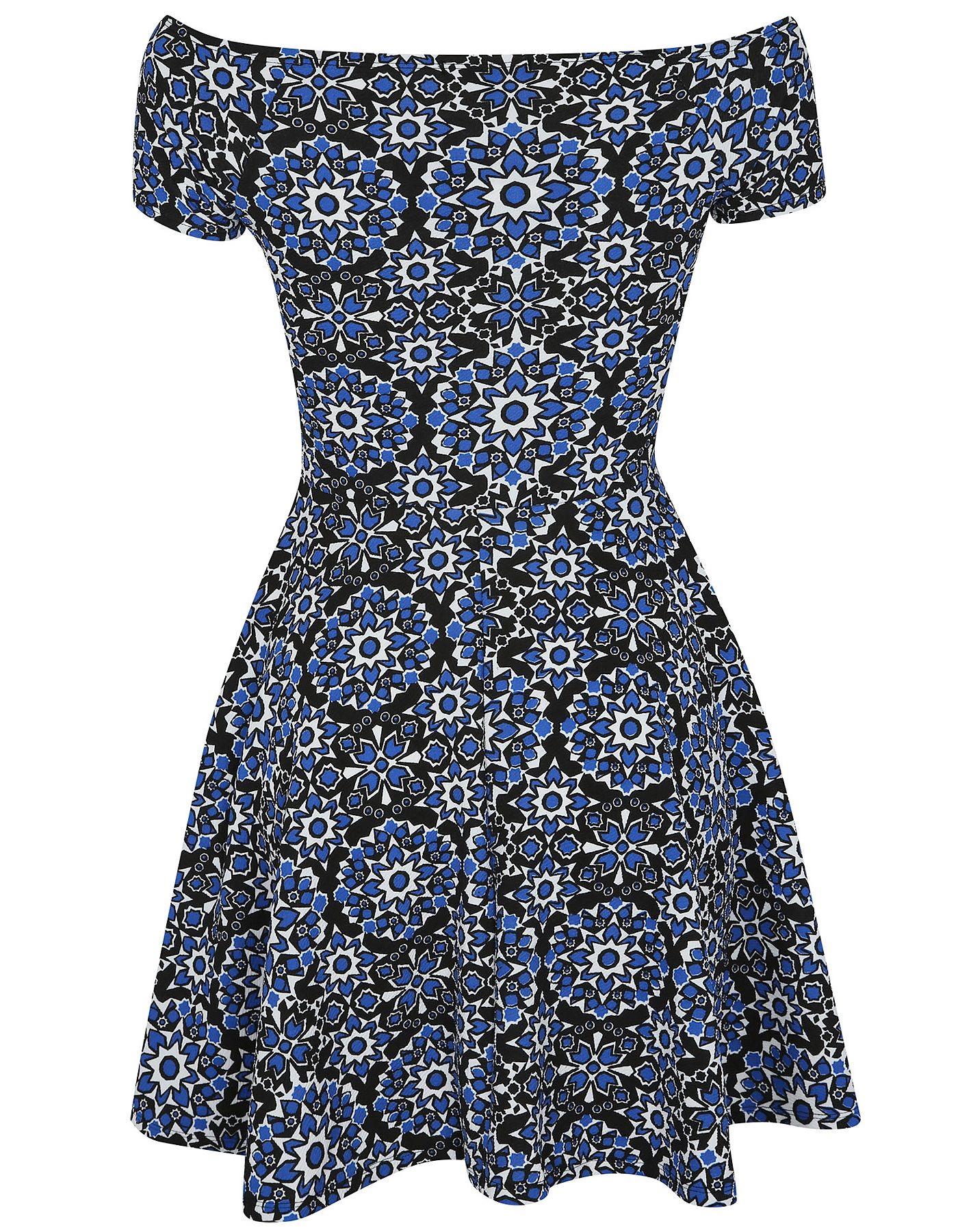 London Chic Tile Print Bardot Dress | Women | George at ASDA
