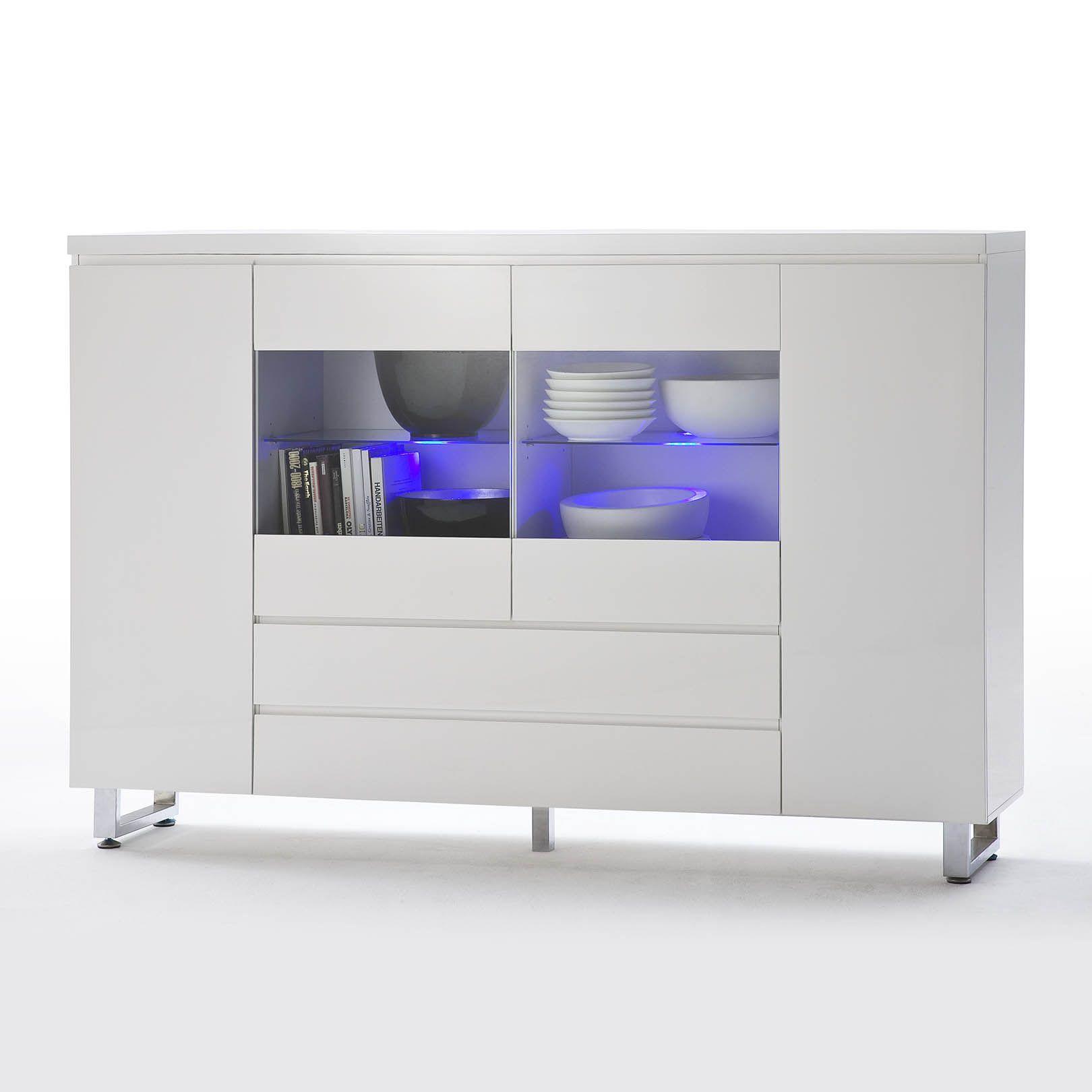 die besten 25 highboard wei hochglanz ideen auf pinterest tv highboard kommode hochglanz. Black Bedroom Furniture Sets. Home Design Ideas