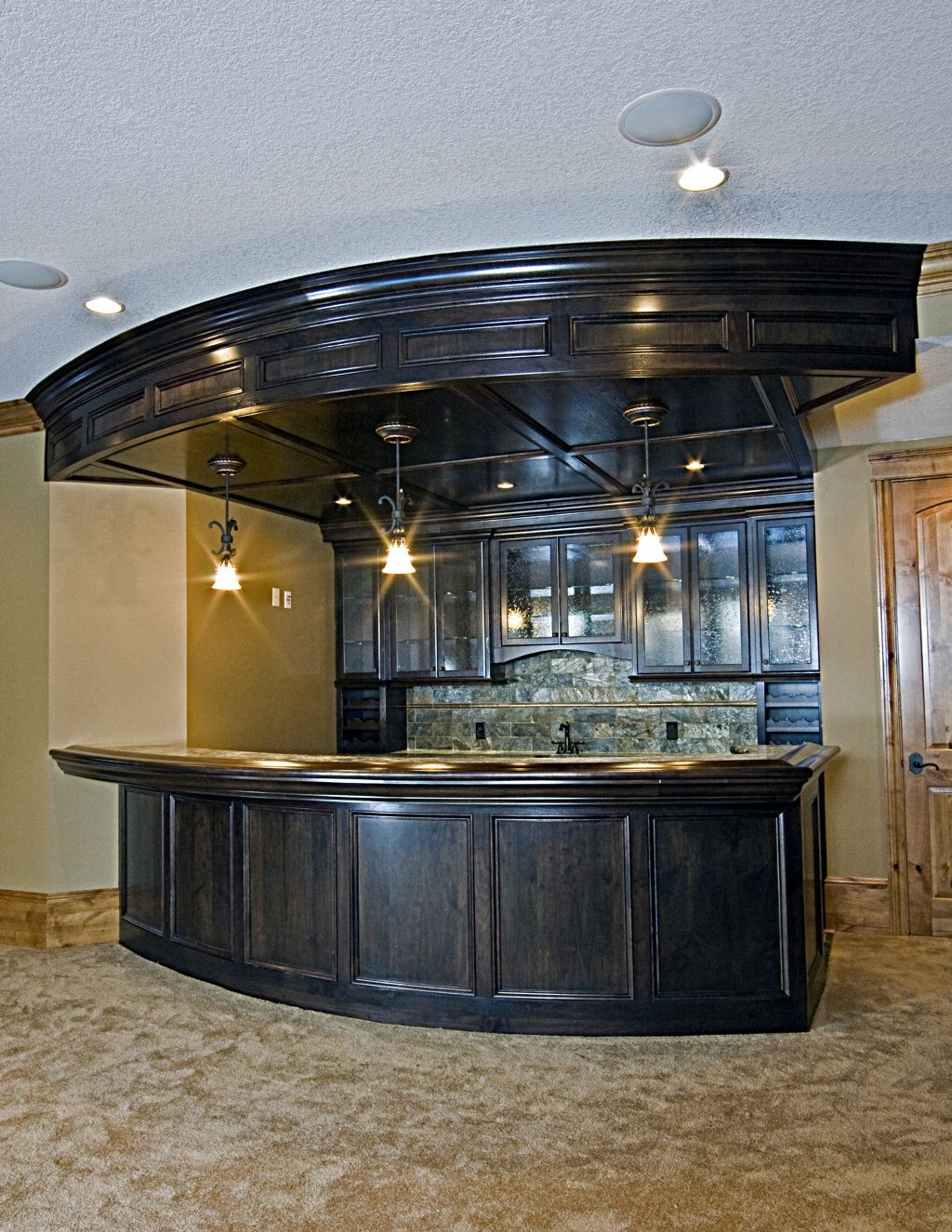 Modern Ideas for Black Home Bar - http://www.thedomainfairy.com ...