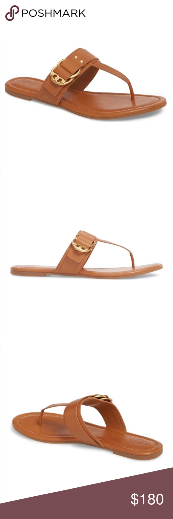 2f4fbd5e6730 Tory Burch Marsden flat thong sandal New in box Details Double-ring T logo  hardware details this thong sandal to give you a signature look with casual  ...