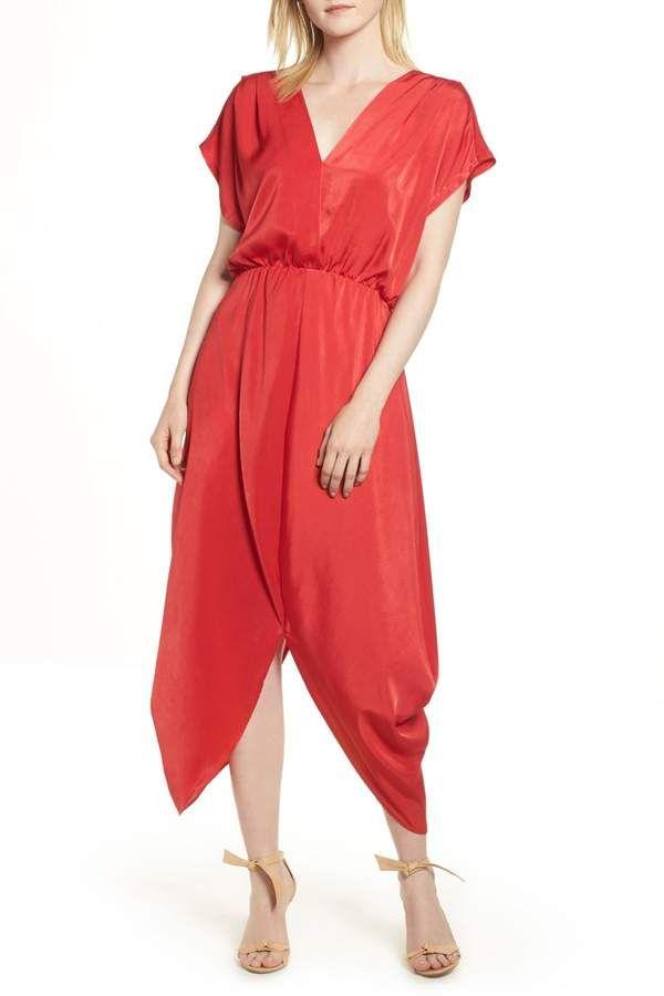 369d71ff01e Halogen Faux Wrap Maxi Dress (Regular   Petite)