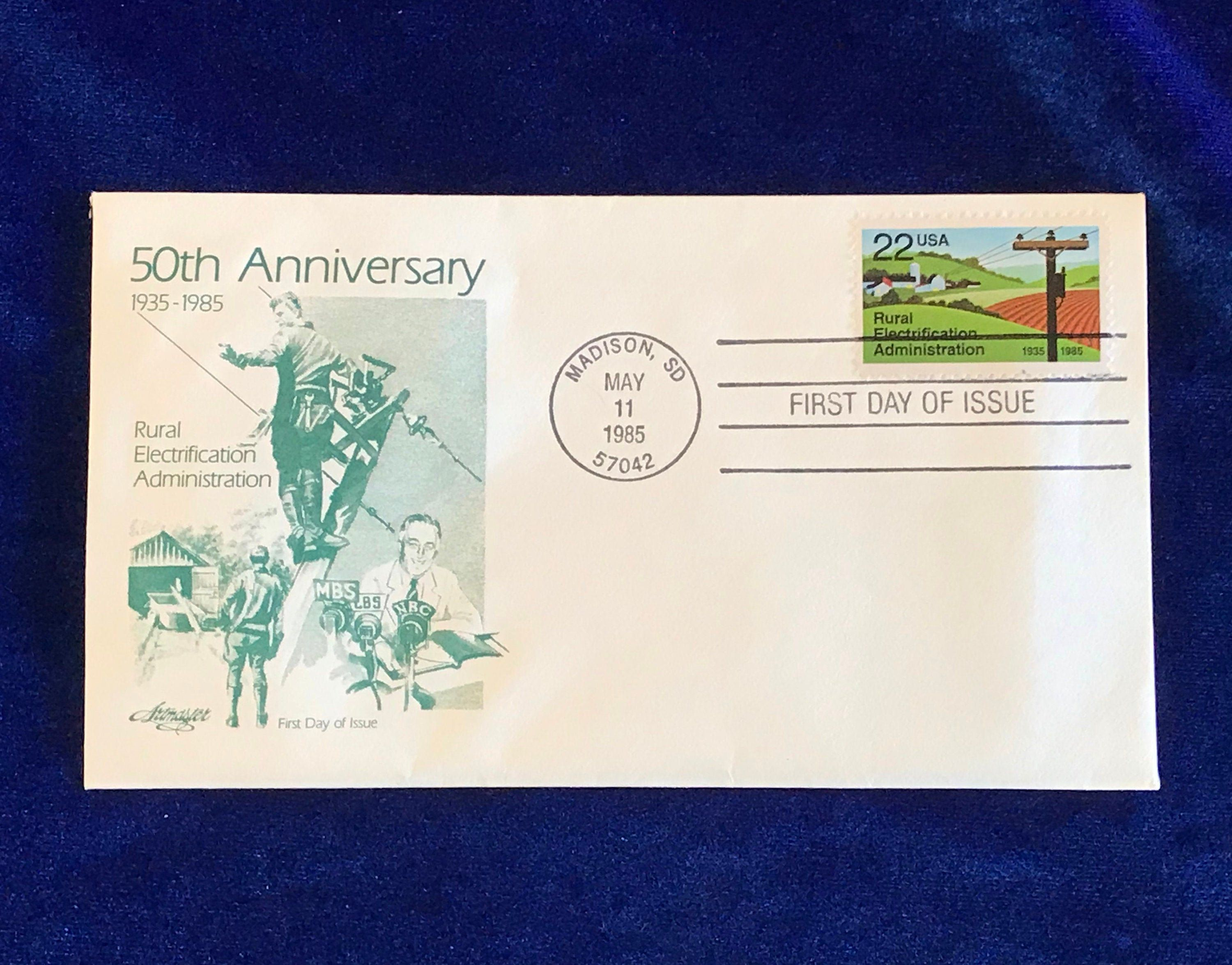 1985 Rural Electrification 50th Anniversary Postage Stamp