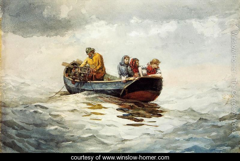 Crab Fishing - Winslow Homer - www.winslow-homer.com