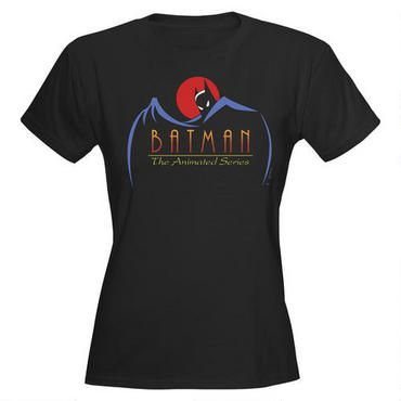 This Batman: The Animated Series t-shirt features a show logo.  100% cotton.  Please note:  this women's t-shirt has slightly tapered fit.