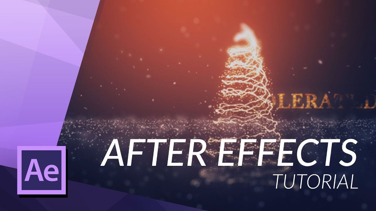Create A Christmas Tree In After Effects With Particular After Effects After Effect Tutorial Adobe After Effects Tutorials