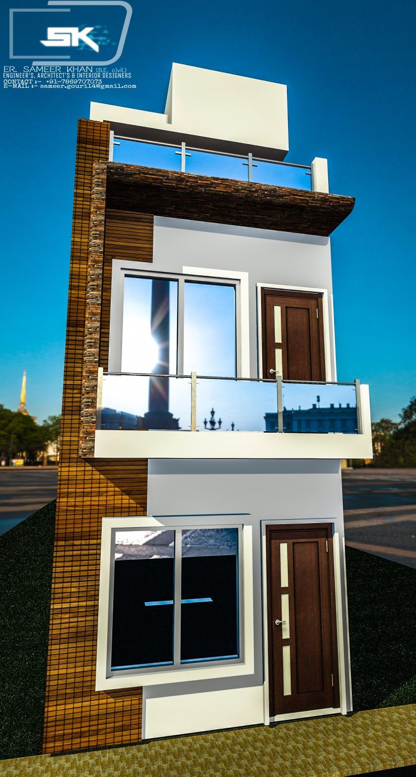 Introducing indan modern house exterior elevation of G+1 ...