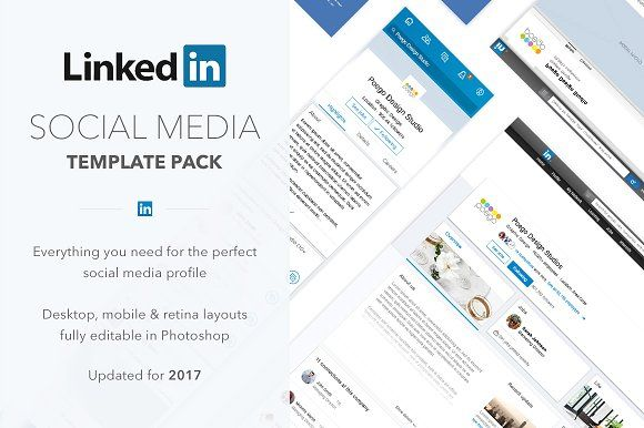 Linkedin Social Media Template Pack Social Media Template Social Media Linkedin Post Social media web templates