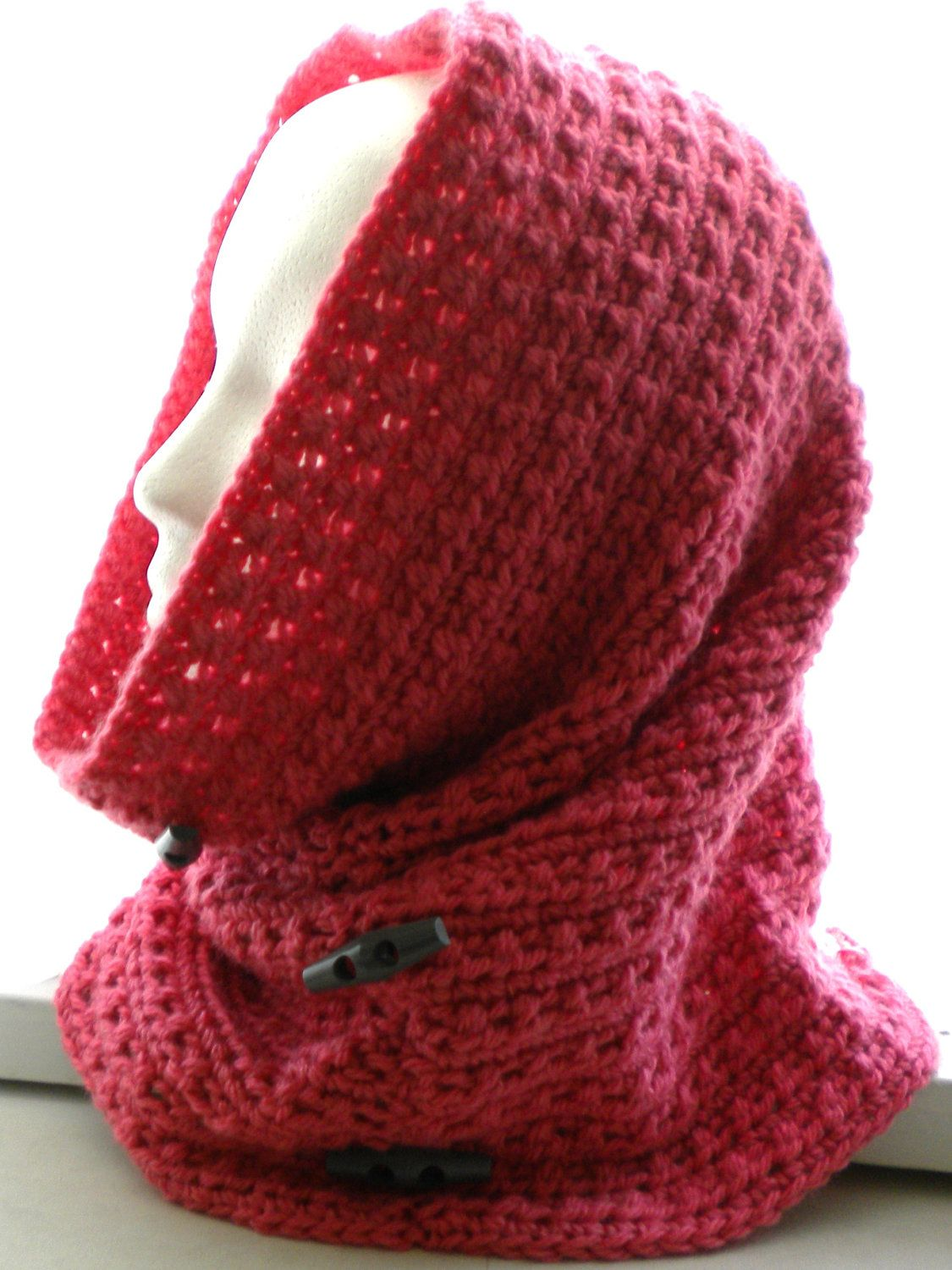 CROCHET COWL /Hood PATTERN with Decorative Buttons. $3.50, via Etsy ...