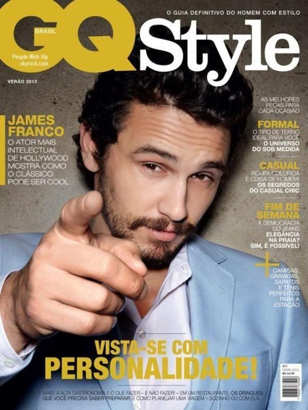 """James Franco  Pose pour le magazine """"GQ Style"""""""