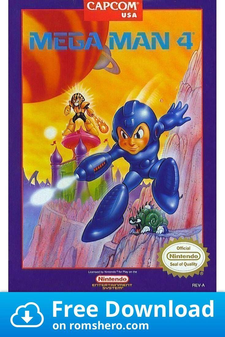 Download Mega Man 4 Nintendo (NES) ROM in 2020 Mega
